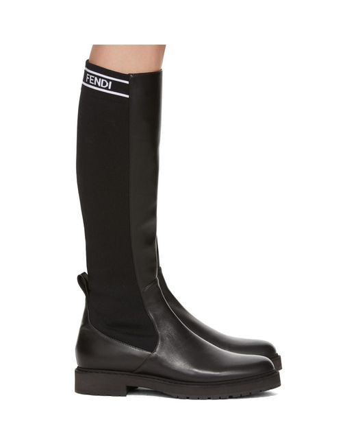 Fendi - Black Tall Sock Boots - Lyst