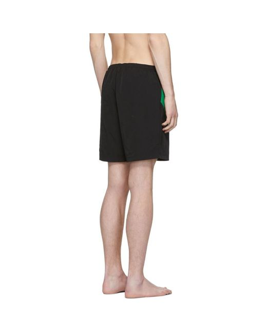 a345501d68 ... Gucci - Black Web Striped And Tiger Head Swimshorts for Men - Lyst ...