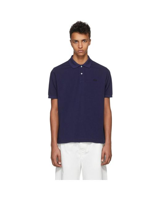 Junya Watanabe - Blue Navy Lacoste Edition Logo Polo for Men - Lyst