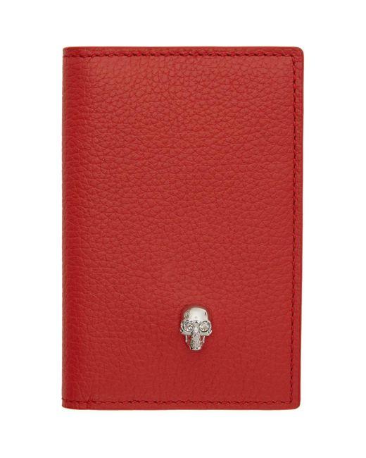 Alexander McQueen - Red Skull Pocket Organizer - Lyst