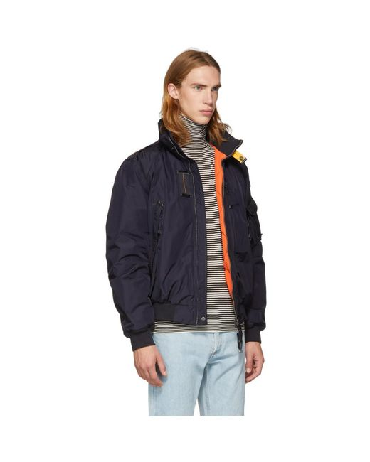 ... Parajumpers - Blue Navy Masterpiece Fire Jacket for Men - Lyst ...