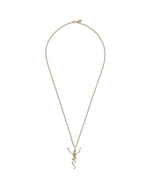 Alexander McQueen - Metallic Gold Dancing Skeleton Necklace for Men - Lyst