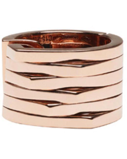 Repossi | Pink Rose Gold 6 Rows Antifer Ear Cuff | Lyst