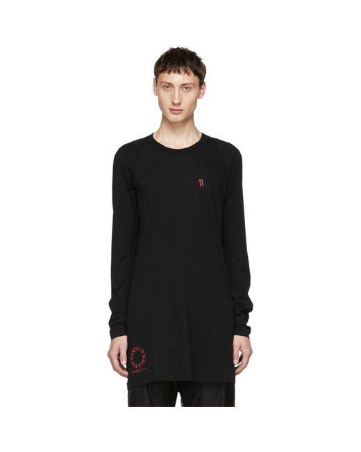 Boris Bidjan Saberi 11 - Black The Master Number Long T-shirt for Men - Lyst