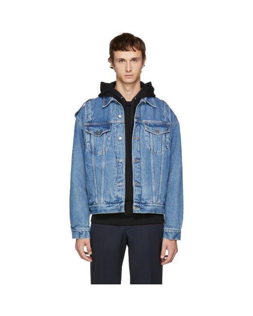 Moschino   Blue Indigo Denim Jacket for Men   Lyst