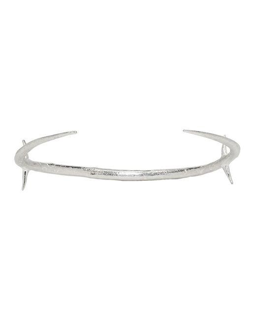 Pearls Before Swine - Metallic Silver Two-tone Thorn Cross Cuff Bracelet for Men - Lyst