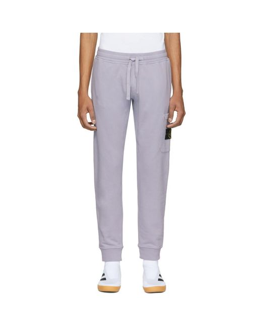 Stone Island - Purple Pocket Sweatpants for Men - Lyst