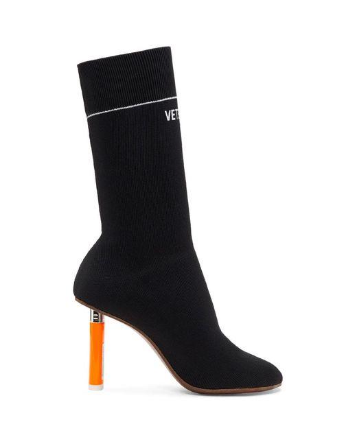 Vetements - Black Lighter Sock Boots - Lyst