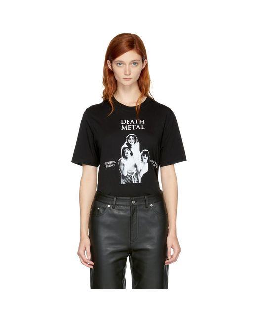 McQ Alexander McQueen - Black 'death Metal' T-shirt - Lyst