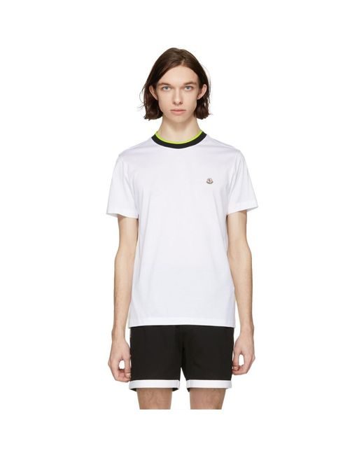 Moncler - White Logo T-shirt for Men - Lyst