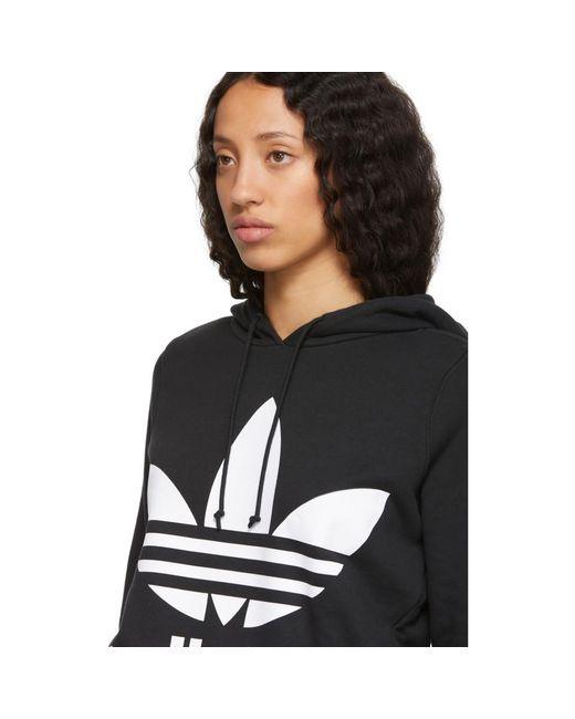 adidas Originals Black Trefoil Hoodie in Black Lyst