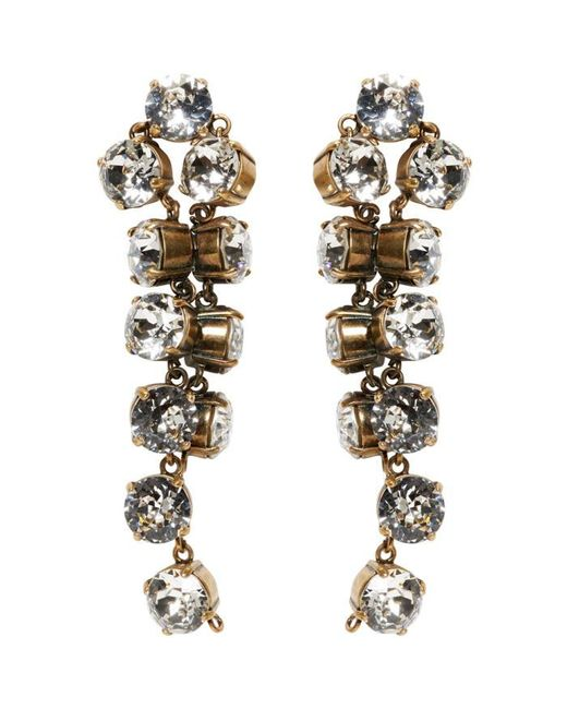 Balenciaga | Metallic Gold Twist Earrings | Lyst