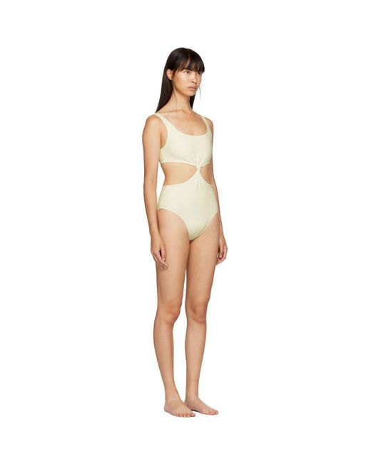ba97b8435e22a Lyst - Solid   Striped Off-white The Bailey One-piece Swimsuit in White
