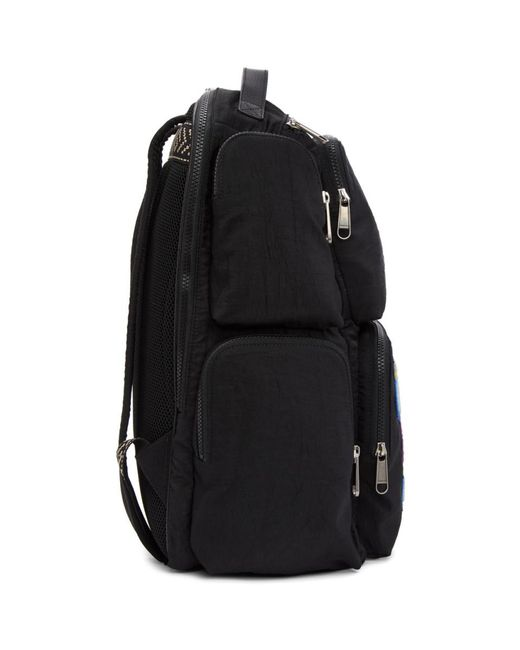 c5f1bd7e5823 Gucci Large Backpack With  80s Patch in Black for Men - Save 11% - Lyst