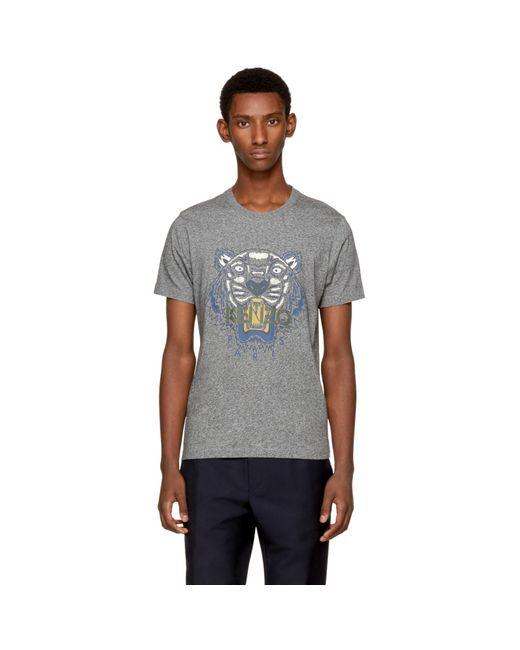 KENZO | Gray Grey Tiger T-shirt for Men | Lyst