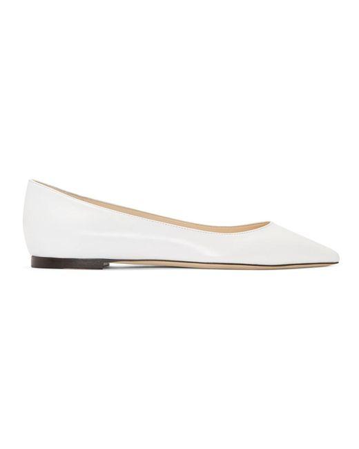 Jimmy Choo - White Leather Romy Ballerina Flats - Lyst