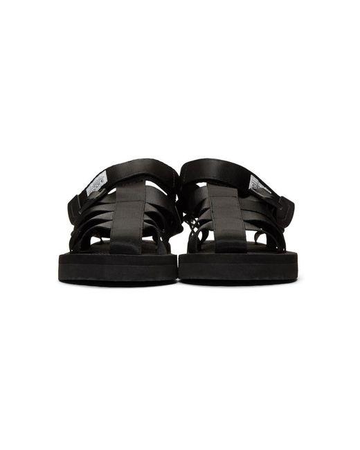 60140012445 ... Suicoke - Black Shaco Sandals - Lyst ...