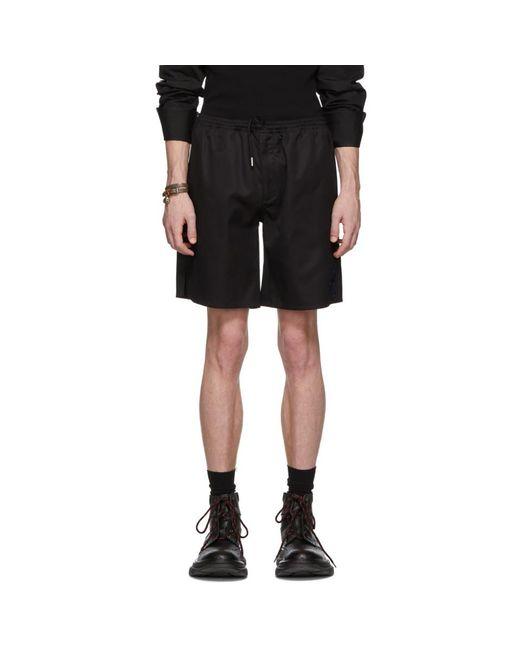 Alexander McQueen - Black Short a broderies noir for Men - Lyst