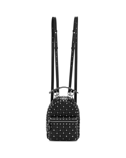 Valentino - Black Garavani Spike Backpack - Lyst