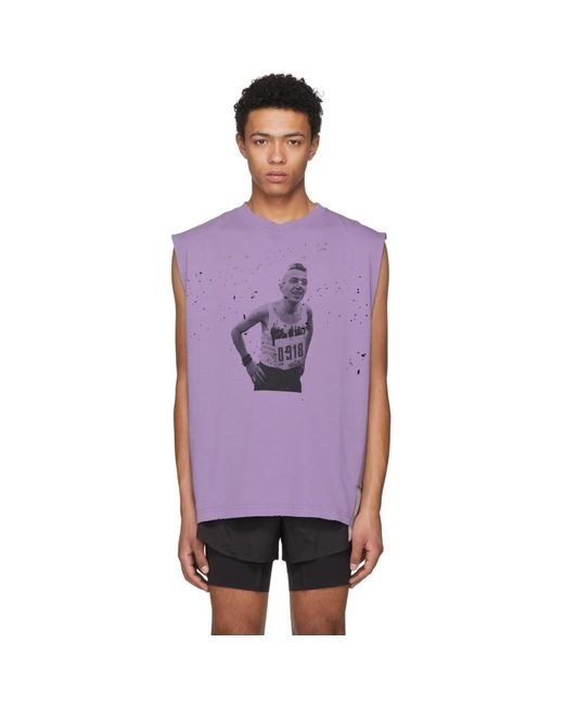 Satisfy - Purple Punk Moth-eaten Muscle Tank Top for Men - Lyst