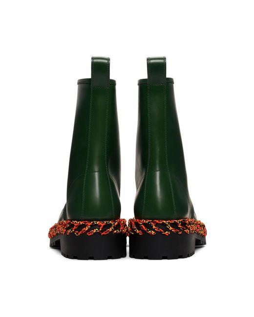 348e81ede937c ... Balenciaga - Green Laces Boots for Men - Lyst ...