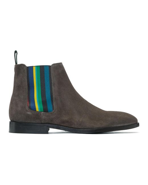 PS by Paul Smith - Brown Suede Gerald Chelsea Boots for Men - Lyst