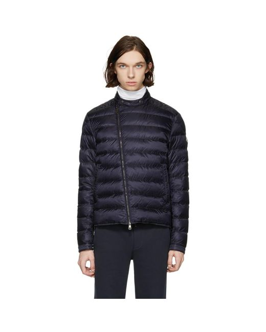 Moncler - Blue Navy Down Crio Jacket for Men - Lyst