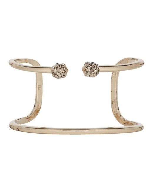 Alexander McQueen - Metallic Gold Twin Double Skull Bracelet - Lyst