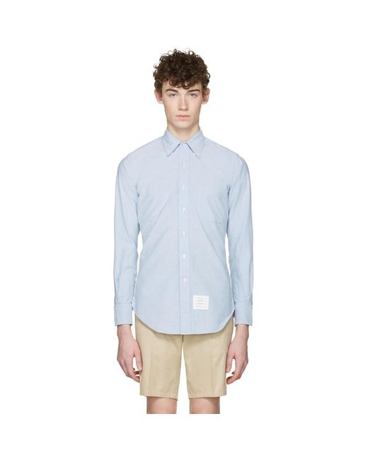Thom Browne - Blue Oxford Classic Shirt for Men - Lyst