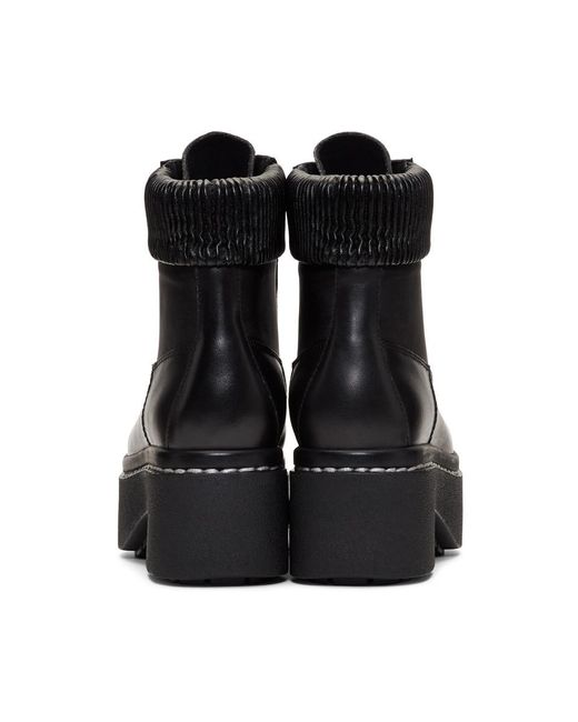 Black Syd Hiker Boots Opening Ceremony HEX3zm