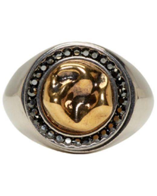 Alexander McQueen | Metallic Gold Tooth Ring for Men | Lyst