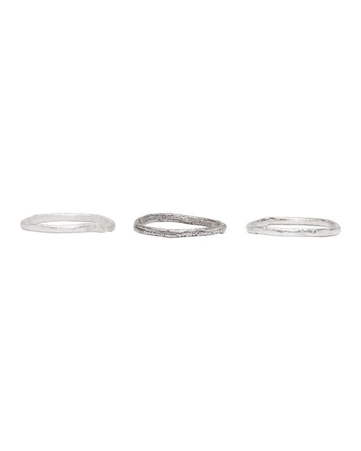 Pearls Before Swine - Metallic Silver Stacking Ring Set - Lyst