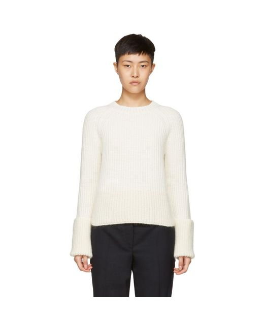 Moncler - Off-white Crewneck Sweater for Men - Lyst