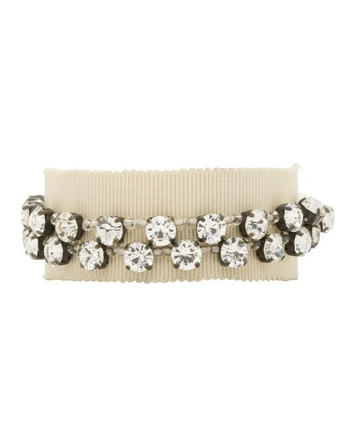 Ann Demeulemeester - Natural Beige Stone Glass And Beads Bracelet for Men - Lyst