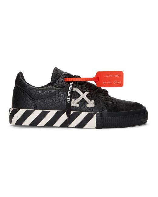 Baskets noires et blanches Low Vulcanized Off-White c/o Virgil Abloh pour homme en coloris Black