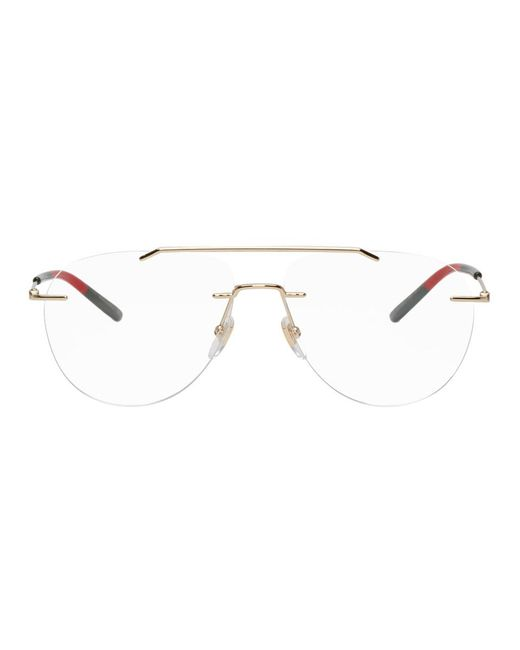 Gucci - Multicolor Gold Rimless Pilot Glasses - Lyst ... c735351a415