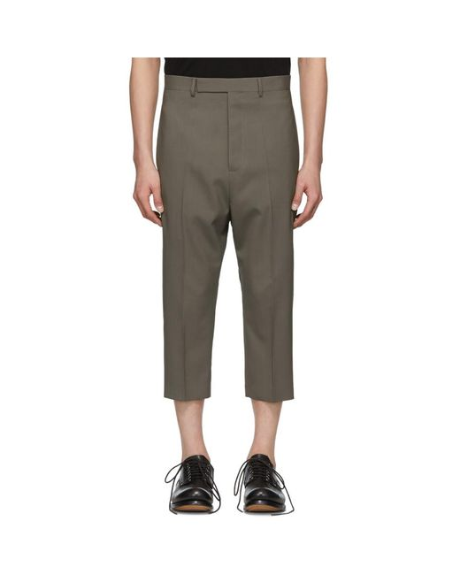 Rick Owens - Multicolor トープ クロップド Astaires トラウザーズ for Men - Lyst