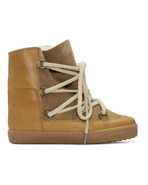 Isabel Marant - Brown Camel Shearling Nowles Boots - Lyst