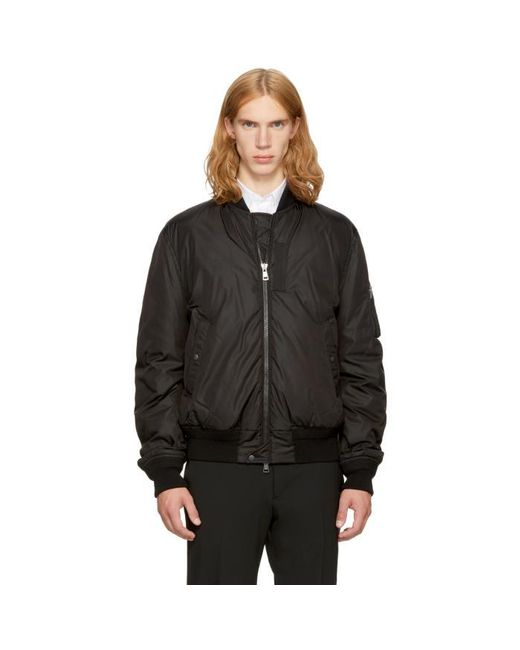 Moncler | Black Down Allix Bomber Jacket for Men | Lyst