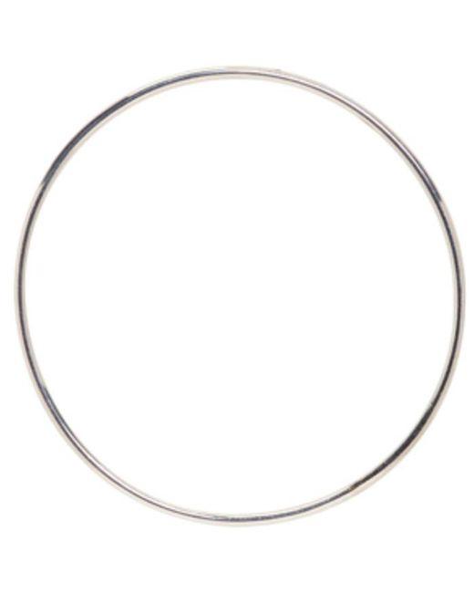 Saskia Diez | Metallic Silver Bold Wire Hoop Earring | Lyst
