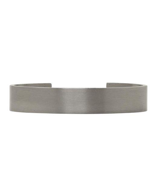 Le Gramme - Black Silver Brushed Le 33 Grammes Bracelet for Men - Lyst