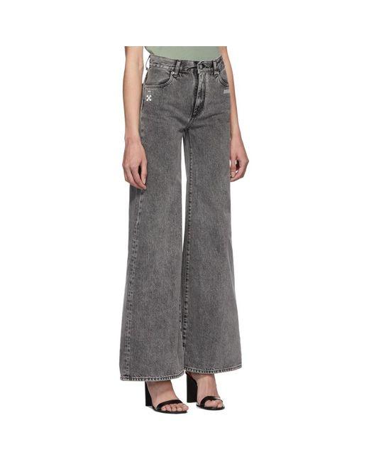 17df0af3fb9f ... Off-White c o Virgil Abloh - Black Straight-leg Jeans - Lyst ...