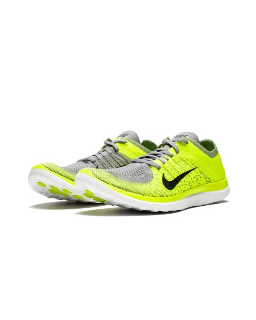 059b227f0ae4b Lyst - Nike Free Flyknit 4.0 in Yellow for Men - Save 10%