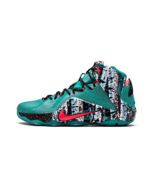 9246dad8218a Lyst - Nike Lebron 12 Xmas Emerald Green hyper Punch in Green for Men