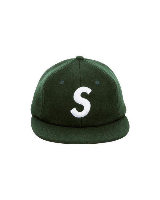 825be1b3 Supreme S Logo 6-panel in Green - Lyst