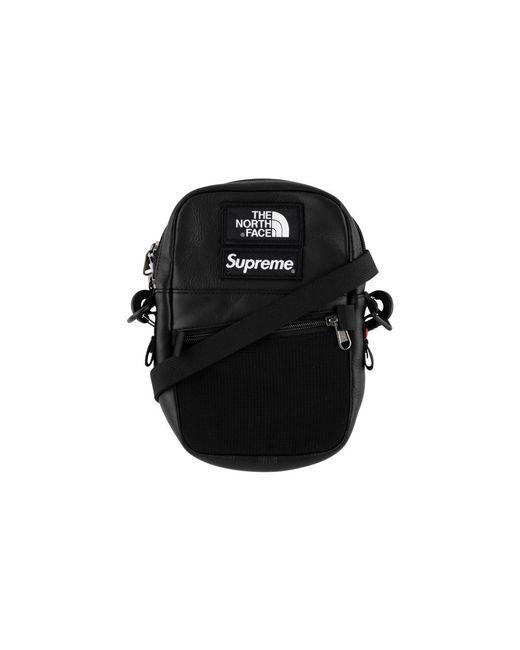 df28cd77 Supreme Tnf Leather Shoulder Bag 'fw 18' in Black for Men - Lyst