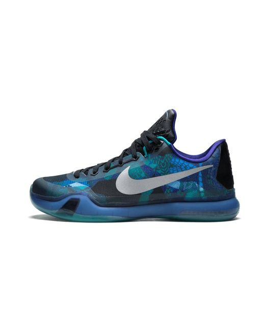 2a478b835d08 Lyst - Nike Kobe 10 Emerald Glow reflective Silver  overcome  in ...