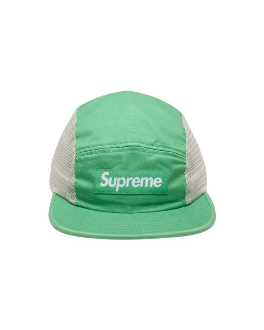 cf887874 Supreme Mesh Side Panel Camp Cap 'ss 18' in Green for Men - Save 36 ...