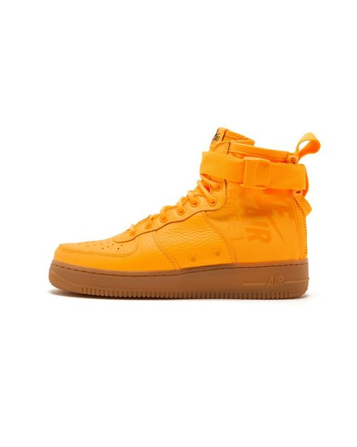 reputable site c4ef4 4890d Nike - Orange Sf Air Force 1 Mid for Men - Lyst