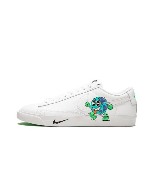 3f726e33 Nike Blazer Low Flyleather Qs in White for Men - Lyst